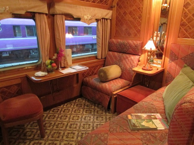 Eastern and Oriental Express Cabin interior.