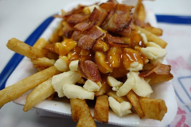 Poutine - widely considered the national dish of Canada.