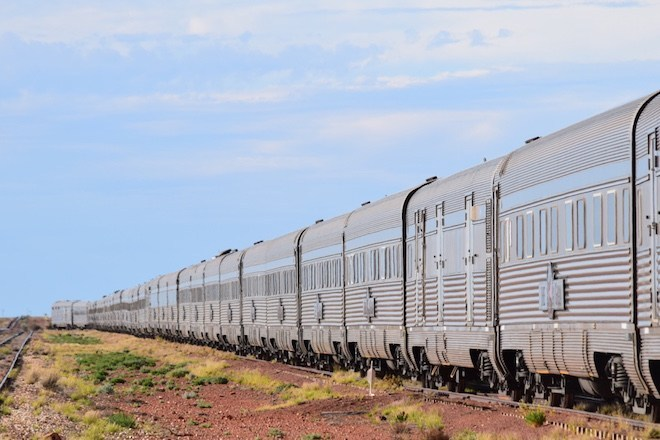 The Ghan in Cobber Pedy, South Australia - Image credit Jason Dutton-Smith.