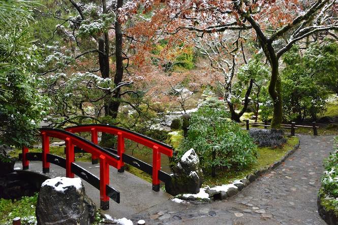Butchart Garden's Japanese Garden during winter