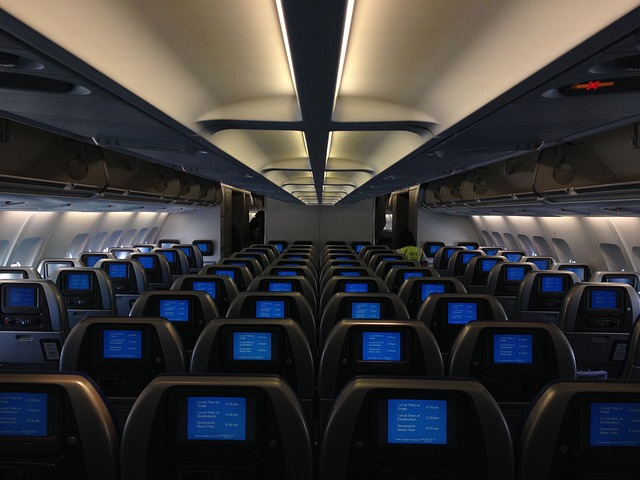A darkened cabin allows cabin crew to more easily assess conditions outside the aircraft.